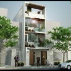 Cho thuê nhà mới xây 4 tầng trống suốt đường Lê Văn Hiến