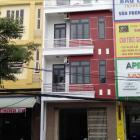 Cho thuê nhà nguyên căn 4 tầng tại đầu đường Tiểu La, đoạn gần với ngã tư Núi Thành