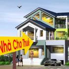 Cho thuê nhà Đẹp 3 tầng, sân vườn rộng  đường Bùi Tá Hán