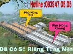 Bán đất dự án Phú Hồng Đạt Phú Hồng Khang